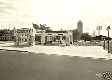 VINTAGE  SINCLAIR gas station pumps service oil carwash bay 8x10 photo