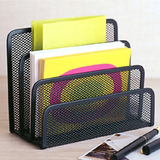 Desk Mail Organizer Small File Holders Letter Organizer Metal Mesh For Desktop