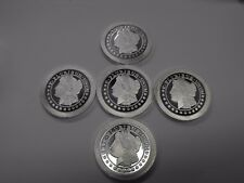 🔥⚡ SALE! LOT OF 5 - 1 OZ 999 FINE SILVER MORGAN STACKER ROUNDS - SILVERTOWNE ⚡