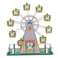 Vintage Wind-up Spining Musical Ferris Wheel Classic Clockwork Tin Toy Gift