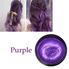 8 Colors Unisex Hair Color Wax Mud Dye Cream Temporary Modeling Mascara DIY Purple