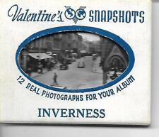 12  VALENTINES  SNAPSHOTS  of  INVERNESS  VINTAGE (COMPLETE SET)