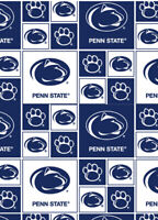 Penn State University Nittany Lions Cotton Fabric Geometric Print-By the Yard