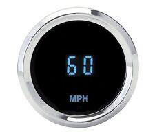"Dakota Digital Universal 2-1/16"" Round Mini Speedometer Blue Display SLX-01-4 KM"