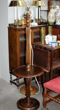 Antique Mahogany Floor Lamp with Table [5286]