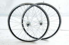 "24"" 507 RIM WHEELS 5, 6 7 SPEED DOUBLE WALL QUICK RELEASE HUBS 130mm O.L.D BLACK"