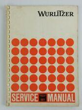 Wurlitzer Jukebox Service Manual 1977 X 5, Niagara, etc (English & German)