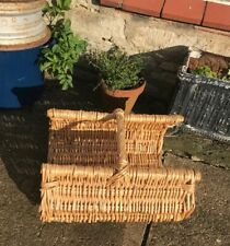 Vintage Style Woven Wicker Garden Trug, Basket With Open Ends