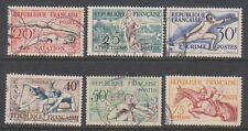 FRANCE - 1953, sports Ensemble de timbres - G / U - SG 1185/90