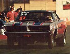 1969 DODGE CHARGER DICK LANDY COLOR PHOTO PRINT 8.5 X 11