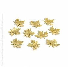 Design Ideas BRASS CASSINI MAPLE LEAVES set 10 fall foliage table decoration