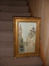 LISTED ETTORE CADORIN (Italian /American 1876-1952) Venice watercolor antique