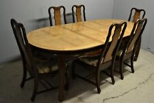Large extending Dining table with 6 chairs Oriental style delivery available