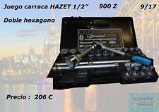 "juego de llave de carraca de 1/2"" doble hexagono HAZET 900 z"