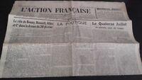 Diario Nacionalista ACCIÓN Francesa 15 Julio 1934 N º 196 ABE