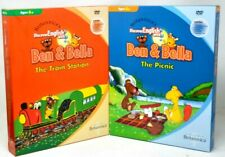 Lot of 2 Britannica's Ben & Bella Book DVD Lot English TRAIN STATION / PICNIC