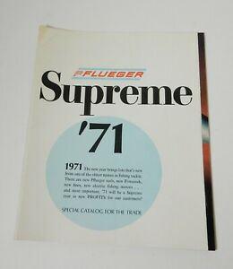 1971 PFLUEGER SUPREME FACTORY TACKLE CATALOG Lures Reels Motors Rods