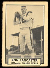 1962 TOPPS CFL FOOTBALL #102 RON LANCASTER OTTAWA ROUGH RIDERS WITTENBERG COLEGE