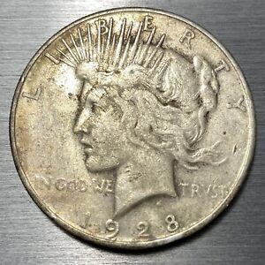 1928 Peace Silver Dollar AU- MLP073