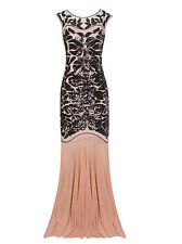 Long Wedding Gown Bridesmaid Formal Dresses Flapper Gatsby Women's Party Costume