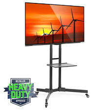 """TV Stand Mobile Cart Mount Wheels for Plasma, LED, Flat Screen - fits 32"""" - 65"""""""