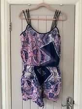 Ladies River Island Sequin Playsuit 16 Ibiza Style Purple And Blue
