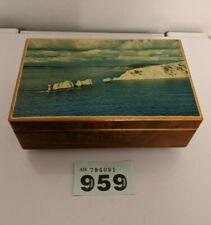 Vintage Tallent of Bond Street Swiss Reuge Coastal picture musical box