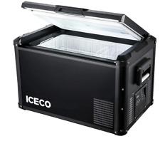 ICECO VL60 ProS Portable Car Fridge Freezer 64QT Compact Refrigerator Dual USB