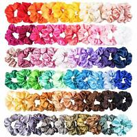 Pack of 50 Hair Scrunchies Velvet Scrunchy Bobbles Elastic Hair Bands Holder