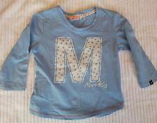 Light blue Long sleeve Mooks top, Size M medium, Boys Girls Unisex