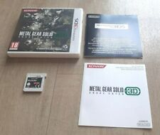 Metal Gear Solid 3D Snake Eater MGS - Nintendo 3DS - Complet - PAL FRA Near Mint