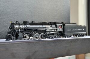 Division Point DP-1301 TH&B MLW 2-8-4 Berkshire #201 Class A Steam Brass F/P