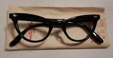 Vintage AMERICAN OPTICAL Laurel Black 44/22 Eyeglass Frame New Old Stock #336