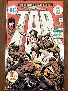 Tor #1 (June 1975, DC) Joe Kubert art, cover and story