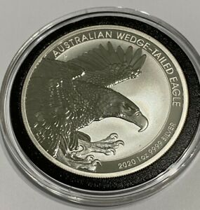 2020 1oz Silver Australian Wedge Tailed Eagle Coin in Capsule
