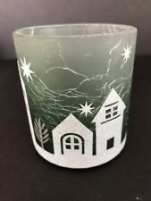 Yankee Candle WINTER VILLAGE P6 Crackle Glass Votive Holder