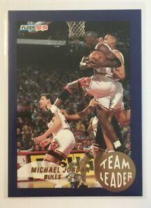 1992-93 FLEER - TEAM LEADER - #4 - MICHAEL JORDAN - NBA