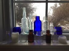 15 Antique/Vintage Medicine Bottles - Castoria, Sloan's, Aspirin, Bell-ans,etc.