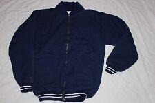 Warm Zipped Fleece Jacket Medium Made in Scotland Navy Blue