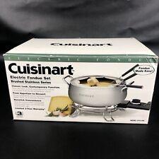 Cuisinart Electric Fondue Set CFO-3SS, 3 quart Satinless Stell Pot New