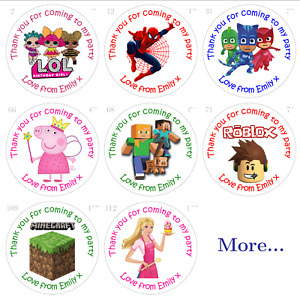 Personalised Birthday Stickers For Party Bags and Sweet Cones - Gloss or Matt
