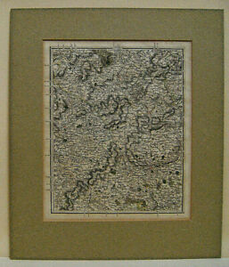 vintage map, Leicestershire