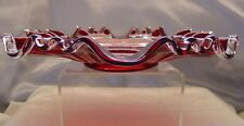 "FENTON GLASS""MINT+PERF~VINTAGE~c1930s~XSRCE~RED""RUBY SILVER CREST""3n1~10""PLATE"