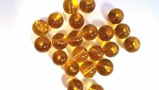 50 X 8 Mm De Vidrio De Cristal Redonda granos De Oro Amarillo-a3668