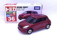 JAPAN TOMY TOMICA NO 36 SUZUKI SWIFT 1/64 DIECAST TOY CAR RED RARE JAPAN VERSION