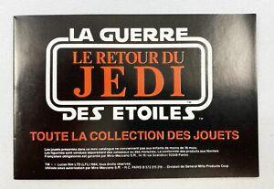 Retour du Jedi 1984 - Miro-Meccano - Mini-Catalogue