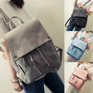 Women Girls Backpack Vintage Leather Satchel Rucksack Travel School Bag NEW #