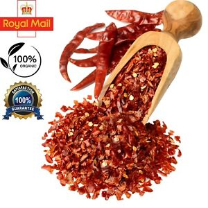 Hot Chilli Flakes Red Crushed Chilli Pepper Premium Quality 50g-2Kg Free UK P&P