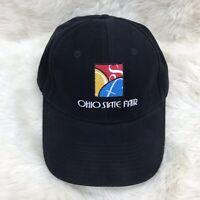 Ohio State Fair Hat Baseball Cap Vintage Black VTG EUC