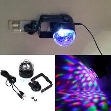 1X Vehicle LED RGB Crystal Disco DJ Party Stage Show Light 12V Single Units